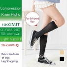 (Far Infrared Ray) 18-22mmHg Compression Knee High Stockings