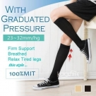 (Comfortable) 23-32mmHg Thin FDA Approved Graduated Compression Knee Stockings