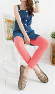 (29001) Ladies Color Cotton Leggings Footless Tights