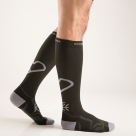 Knee High Compression Sports Cushion Running Bike Sports Knee Socks