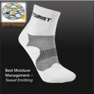 (96204) Running Training Athletic Tennis Badminton Crew Ankle Terry Sports Socks