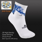 (96202) Tennis Training Athletic Badminton Running Crew Ankle Terry Sports Socks
